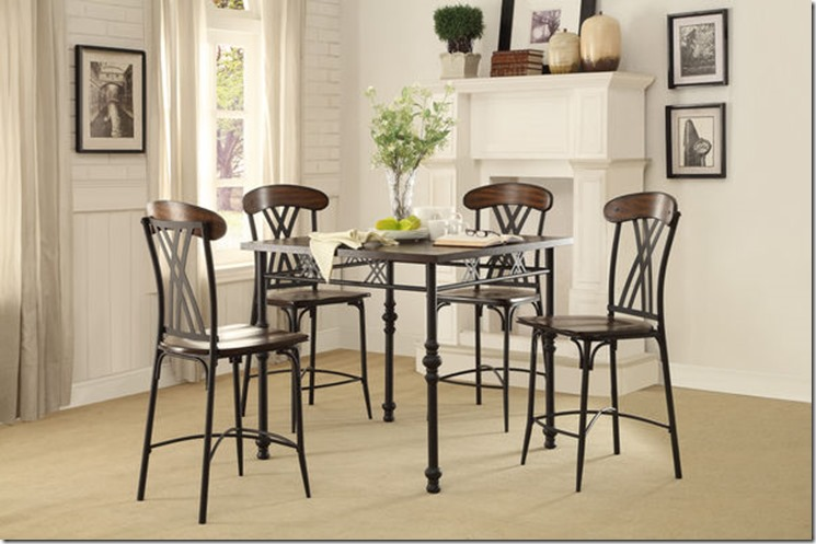 5149 COUNTER HEIGHT TABLE 40 X 36H And 4 Counter Height Chairs Regular 375 ON SPECIAL NOW 279