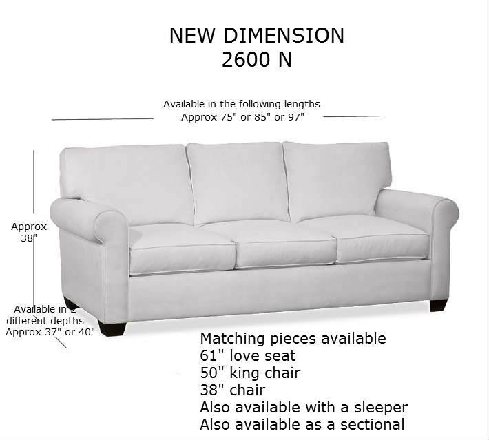 Superieur 2600N CROPPED 2600n Sectional W Measurements 2600N Sofa Measurements