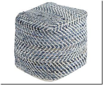blue jean ottoman