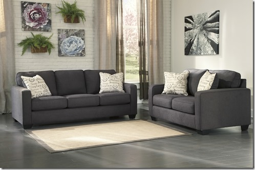 ALICIA SOFA AND LOVE GRAY