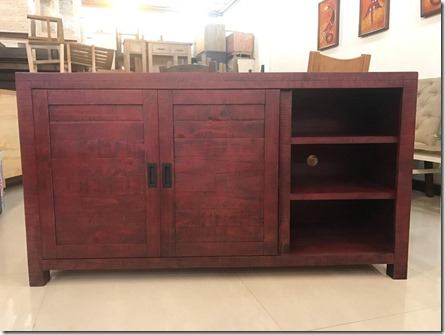 Glenwood Pines 64'' RED TV Stand &  Server