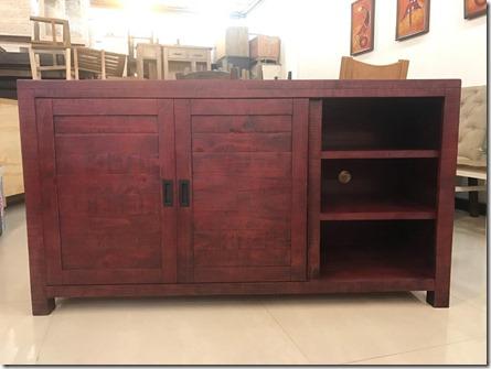 Glenwood Pines 64'' RED TV Stand & Server