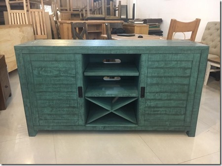 Glenwood Pines 64'' Teal TV  Stand&Server