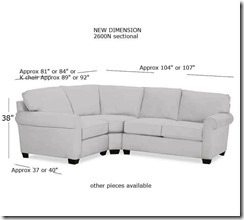 2600n sectional w measurements
