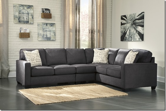 ALICIA 3 PC SECTIONAL GRAY
