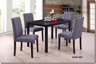 COM2 NORA (CB3248) 5 pc (Espresso)